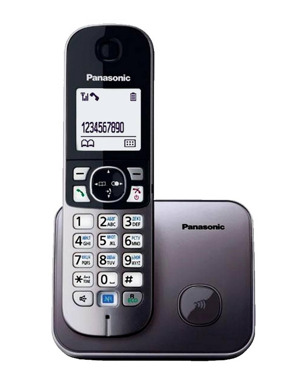 Ασύρματο Ψηφιακό Τηλέφωνο Panasonic KX-TG6811GRM Ασημί με Λειτουργία Διακοπής Ρεύματος και Λειτουργία ECO