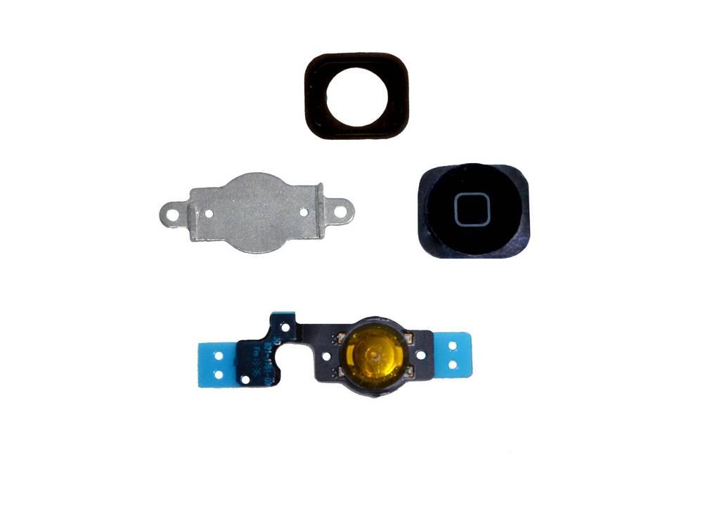 Πλήρες Σέτ Κεντρικού Πλήκτρου Apple iPhone 5C Μαύρο Original