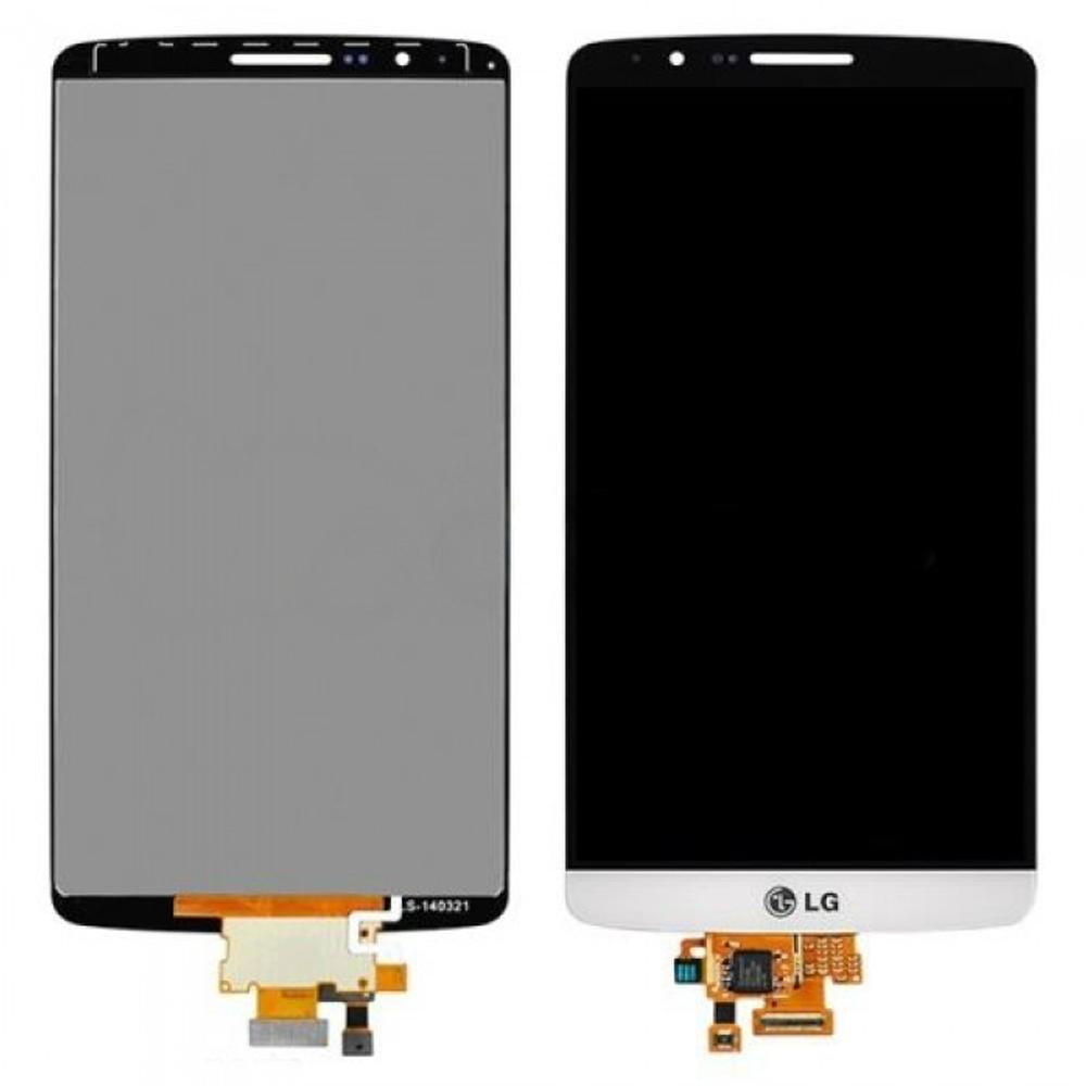 Γνήσια Οθόνη & Μηχανισμός Αφής LG G3 D855 Λευκό χωρίς Πλαίσιο, Κόλλα