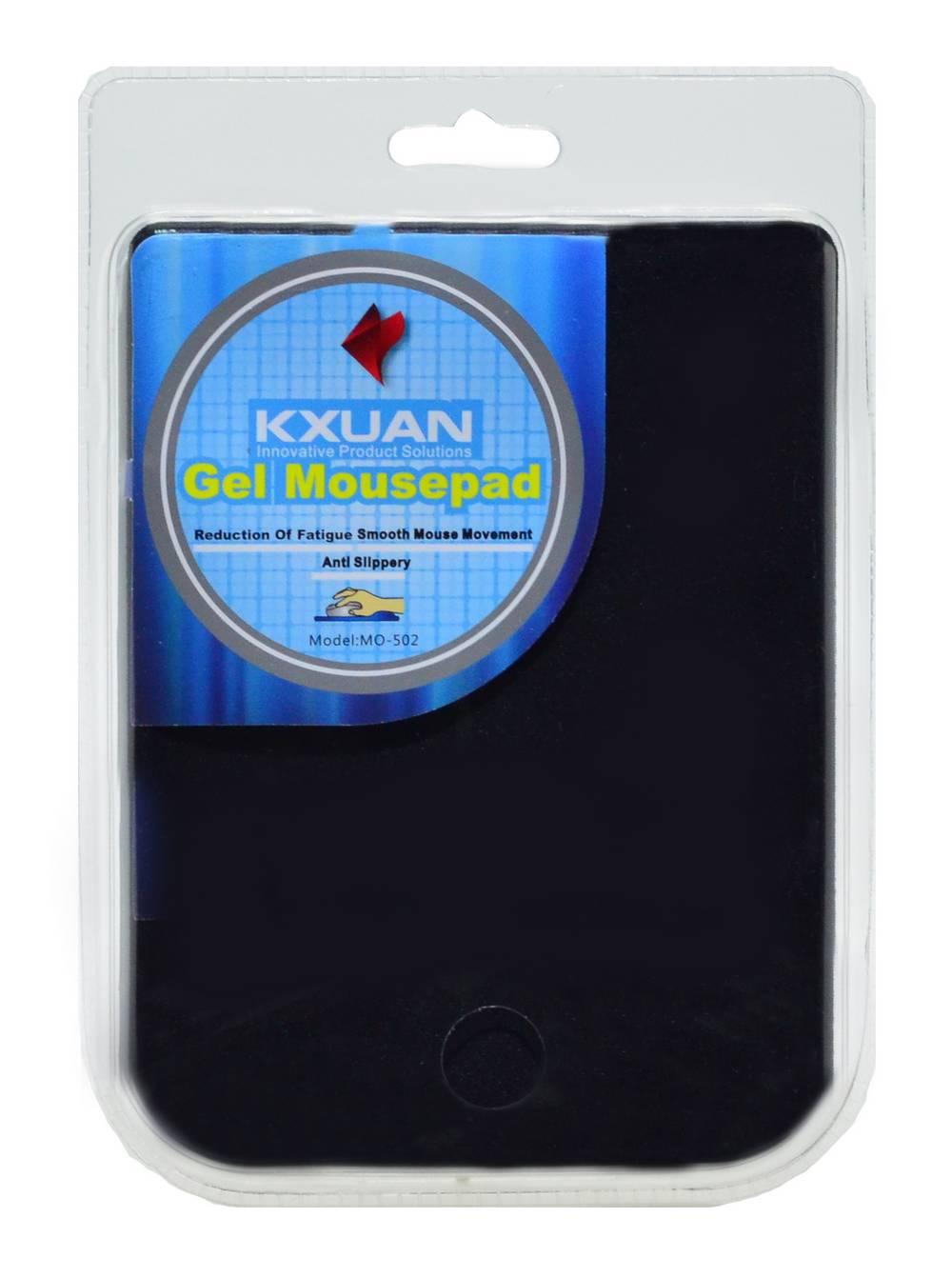 Mousepad Gel Kxuan MO-502 Μαύρο