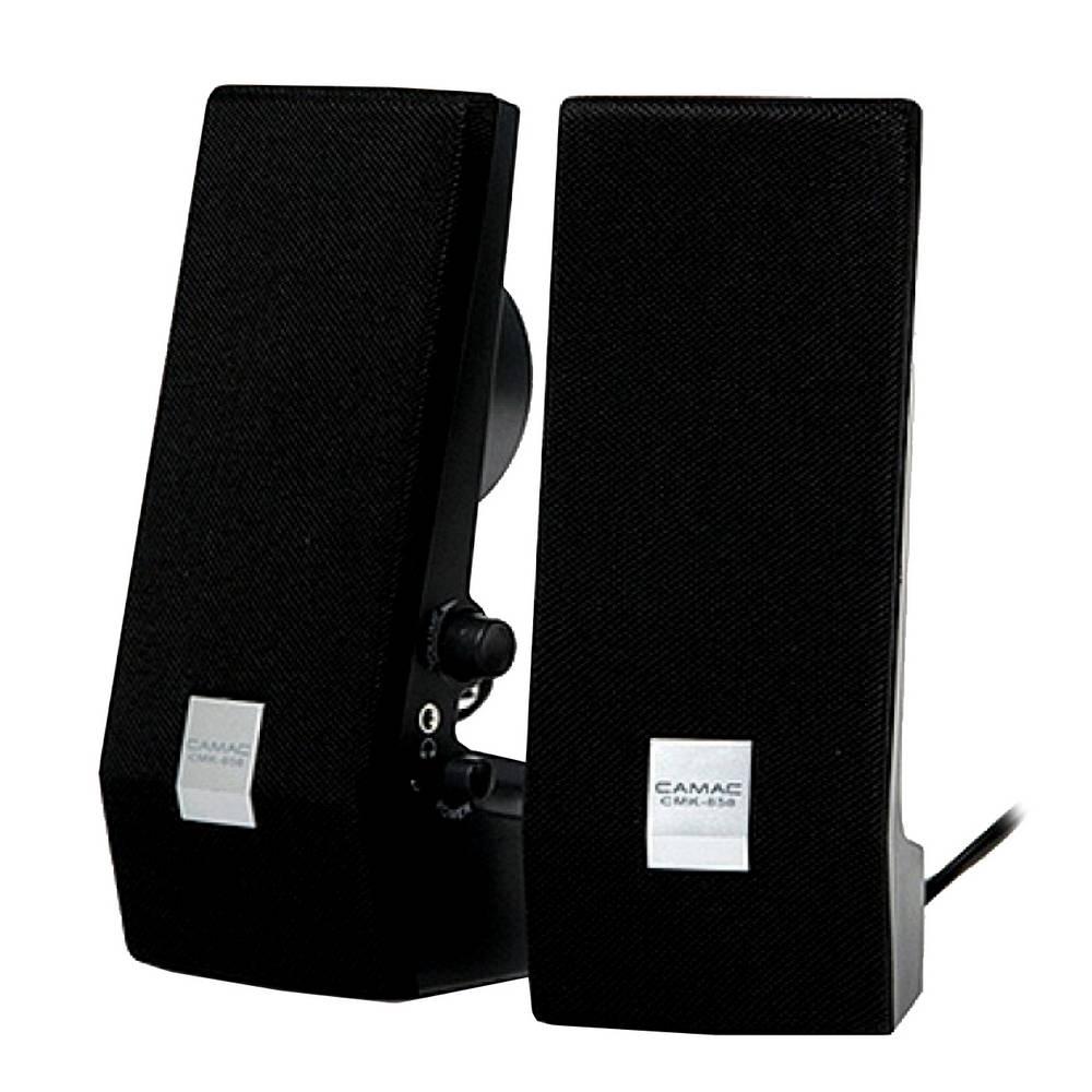 Ηχείο Stereo Camac CMK-858 1Wx2 RMS Μαύρο με Τροφοδοσία USB 70x74x180mm