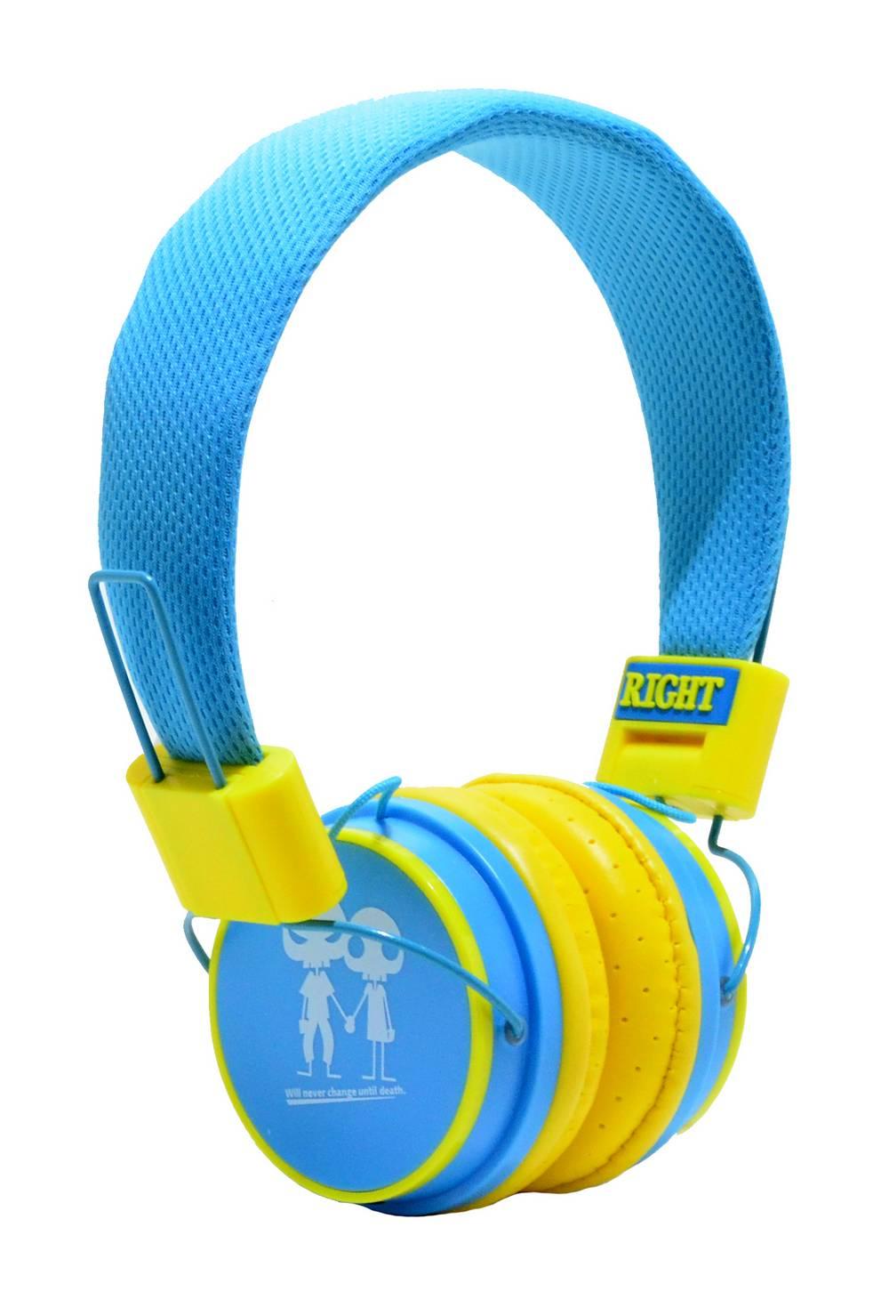 Ακουστικά Stereo Baby EP-15 3.5 mm Μπλέ - Κίτρινο με Μικρόφωνο, Πλήκτρο Απάντησης για Κινητά, mp3, mp4 και Συσκευές Ήχου