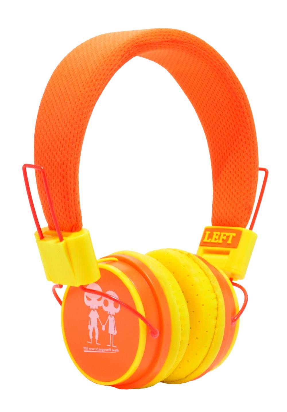 Ακουστικά Stereo Baby EP-15 3.5 mm Πορτοκαλί - Κίτρινο με Μικρόφωνο, Πλήκτρο Απάντησης για Κινητά, mp3, mp4 και Συσκευές Ήχου