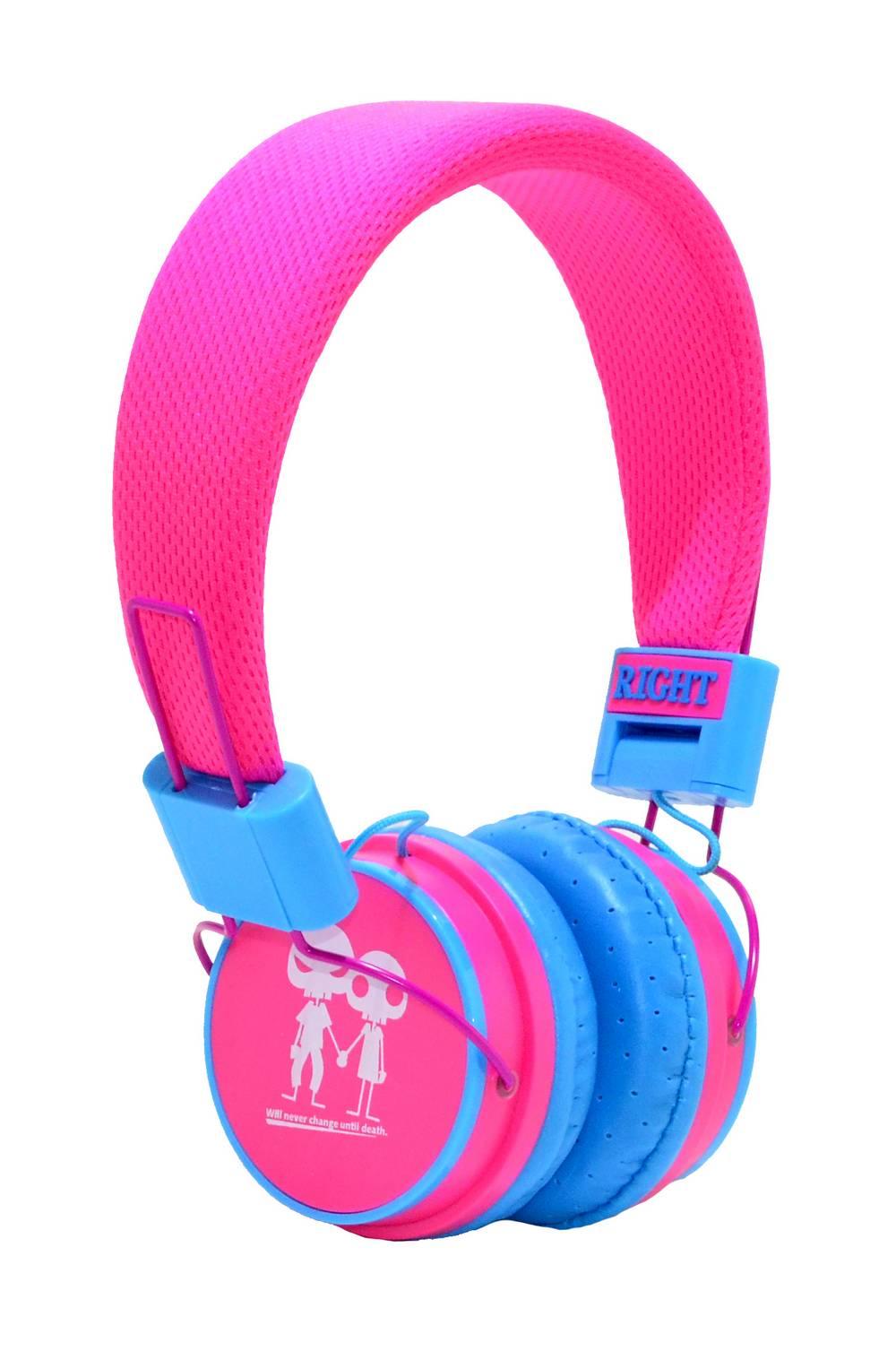 Ακουστικά Stereo Baby EP-15 3.5 mm Φούξια - Μπλέ με Μικρόφωνο, Πλήκτρο Απάντησης για Κινητά, mp3, mp4 και Συσκευές Ήχου