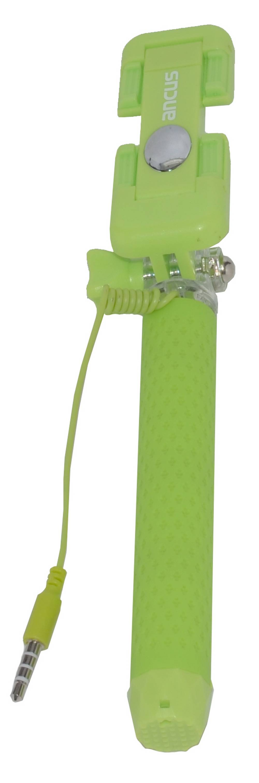 Selfie Stick Ancus Colour Πράσινο με Καλώδιο Jack 3.5mm (Μήκος Κονταριού 13.5cm, Μήκος Ανοίγματος 65cm)