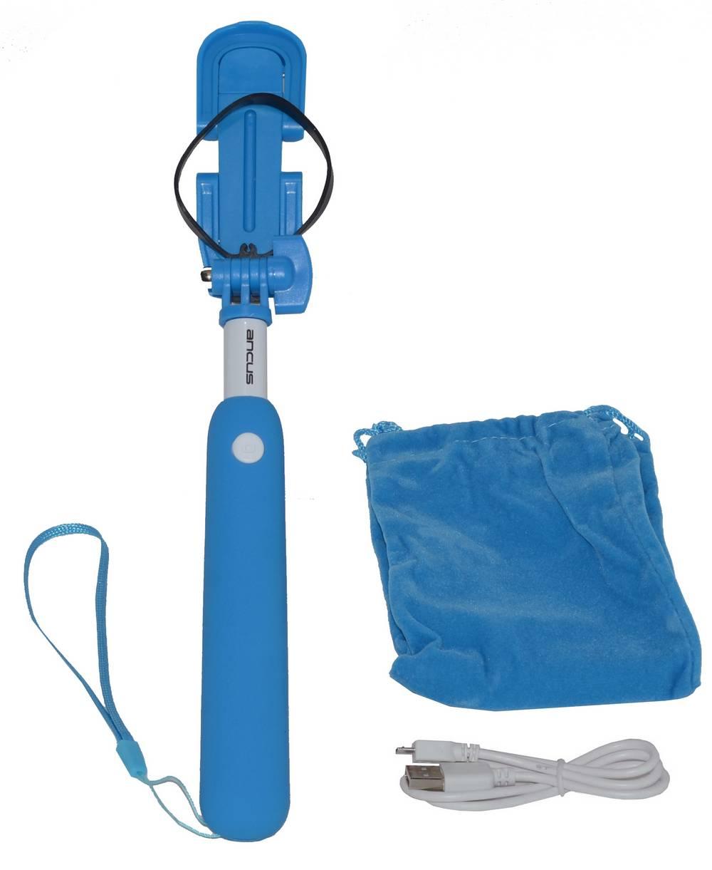 Selfie Stick Ancus Mini Bluetooth Μπλε (Μήκος Κονταριού 18cm, Μήκος Ανοίγματος 72cm)