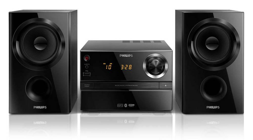 Ηχοσύστημα Micro Philips 30W BTM1360 Μαύρο με MP3 Link,USB Θύρα και Bluetooth