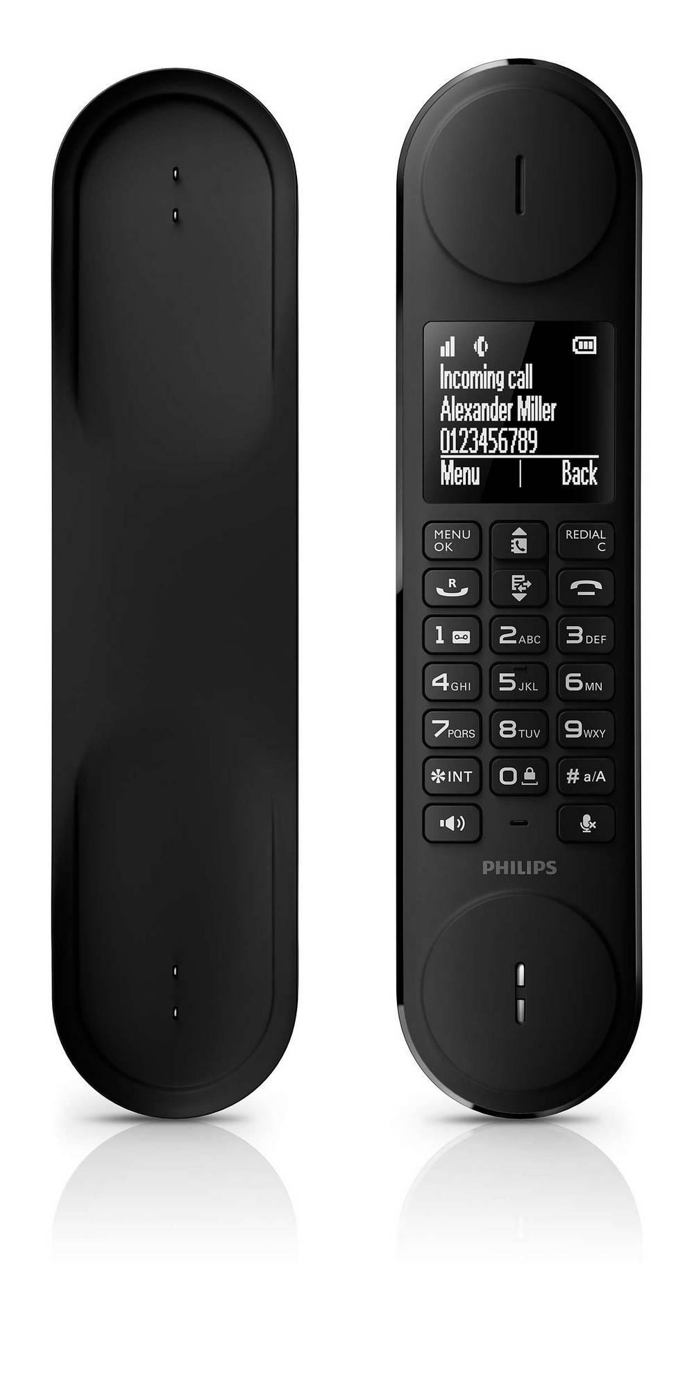 Ασύρματο Ψηφιακό Τηλέφωνο Philips Luceo M6601WB Λευκό - Μαύρο