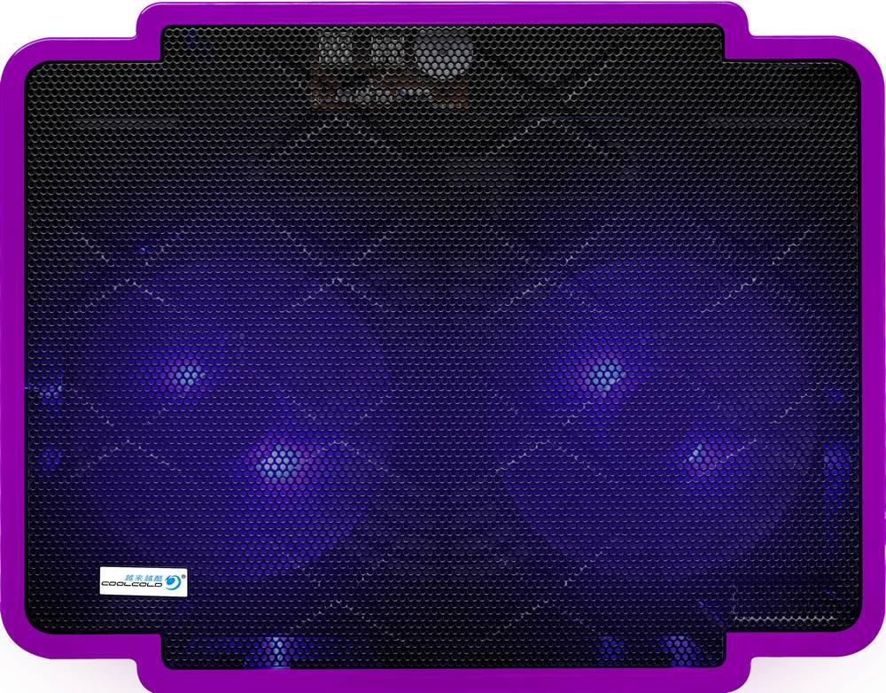 "Laptop Cooler CoolCold Ice Thin K17-1(2 FANS) Μώβ για Φορητούς Υπολογιστές έως 15.6"""