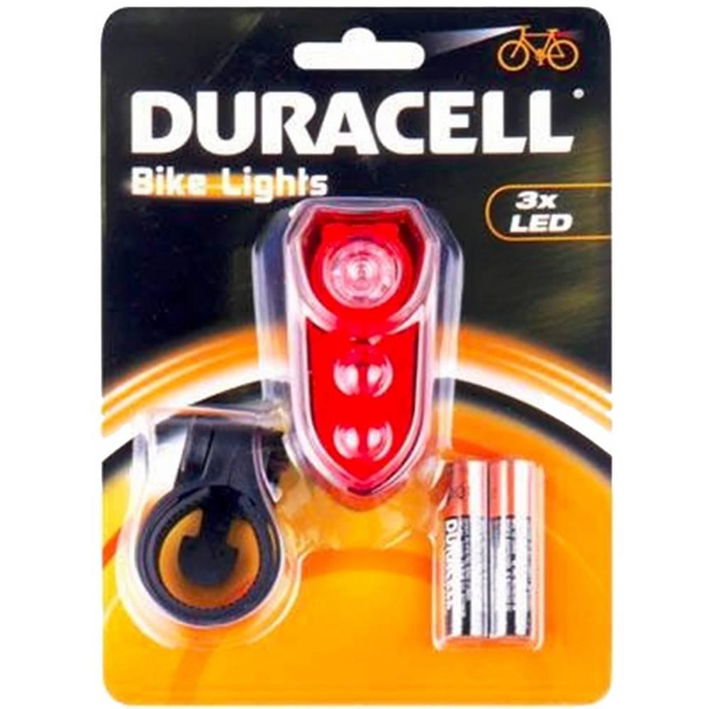 Φακός Ποδηλάτου Duracell Πίσω Φώς 3 Led με Μπαταρίες AAA 2 Τεμ.