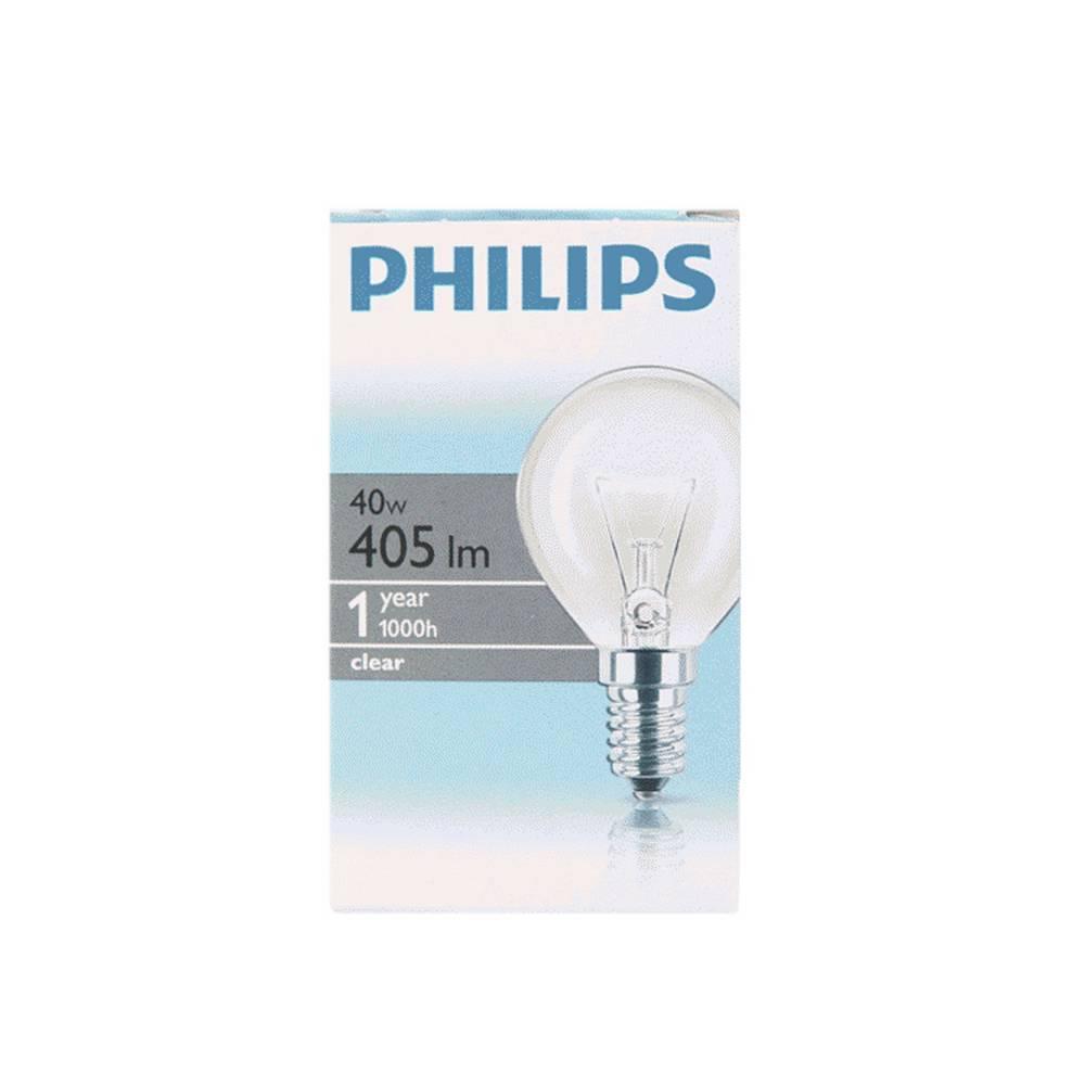 Λάμπα Γλόμπος Βιδωτή Philips P45 Clear 40W 405 Lumen 230V