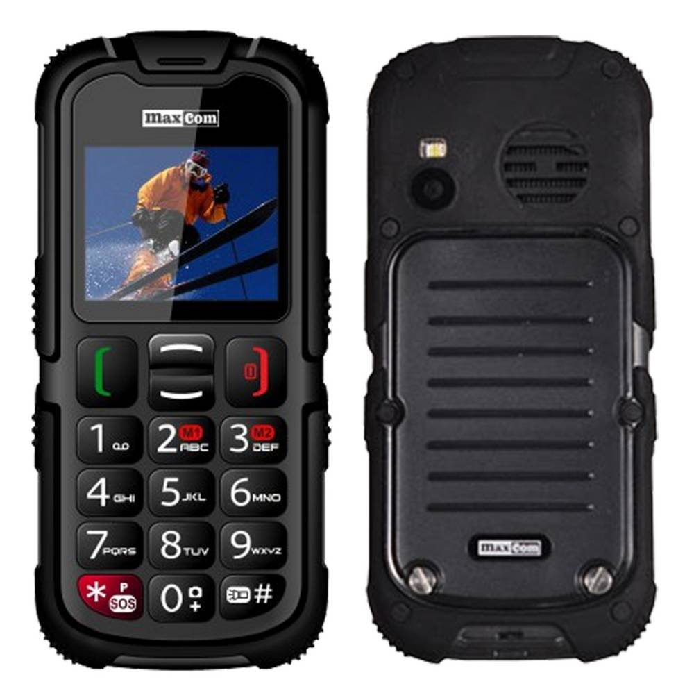 Maxcom MM910 (Dual Sim) Water-dust proof IP67 με Φακό, Ραδιόφωνο (Λειτουργεί χωρίς Handsfree) και Κάμερα Μαύρο