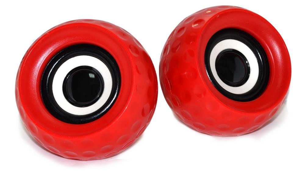 Ηχείο Stereo Golf E-11 3Wx2 RMS Κόκκινο με Τροφοδοσία USB 8x8x6cm