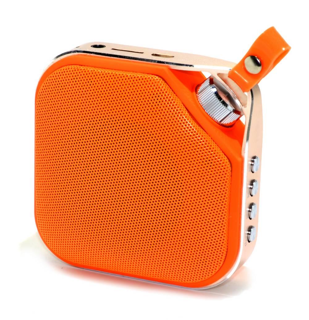 Φορητό Ηχείο Mini Bluetooth Peterhot PTH-16 3W Πορτοκαλί με Ανοιχτή Ακρόαση, AUX και MP3 Player με Κάρτα Μνήμης Micro SD και USB