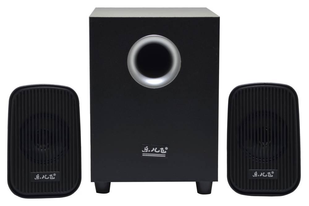 Ηχείο Stereo Music-F D-Y5 2.1 5Wx2+ 3W RMS Μαύρο με Τροφοδοσία USB 13x8.5x5cm