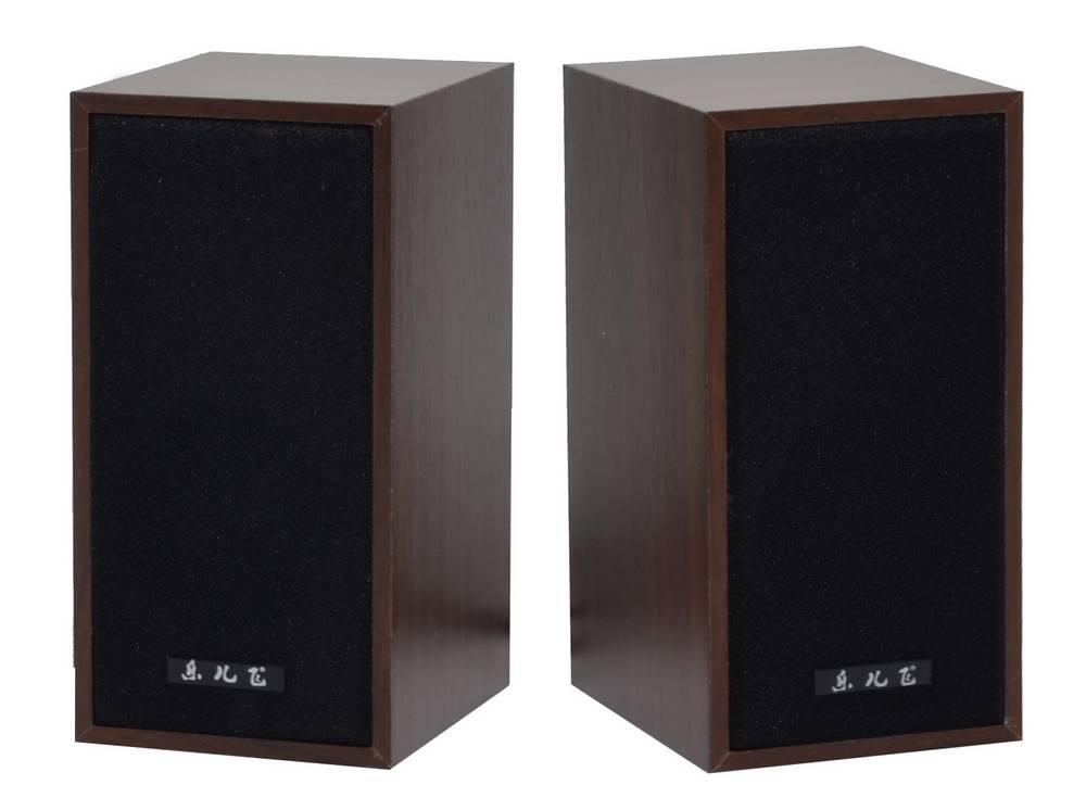 Ηχείο Stereo Music-F D9 3Wx2 RMS Καφέ με Τροφοδοσία USB 14x7.5x9.5cm