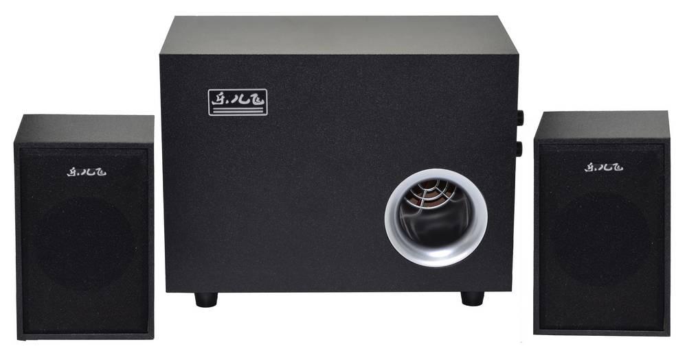 Ηχείο Stereo Music-F D-Y3 2.1 5W+2χ3W RMS Μαύρο με Τροφοδοσία USB 15x10x9.5cm
