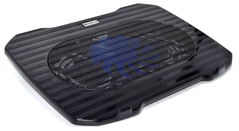 """Laptop Cooler Mobilis K15 Μαύρο για Φορητούς Υπολογιστές έως 15.6"""""""