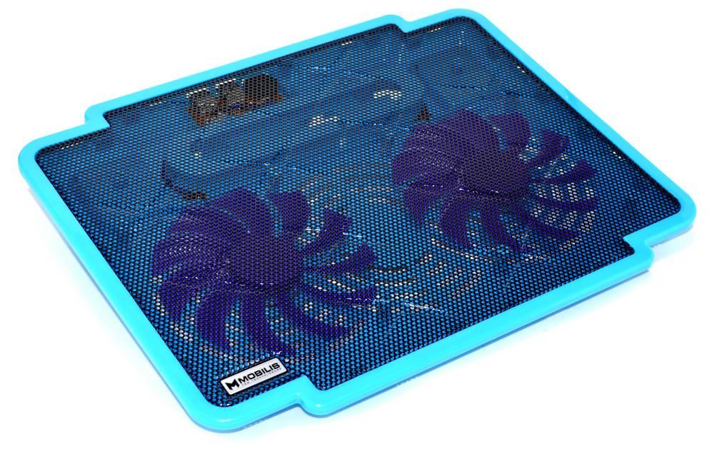 """Laptop Cooler Mobilis K17 Μπλέ για Φορητούς Υπολογιστές έως 15.6"""""""