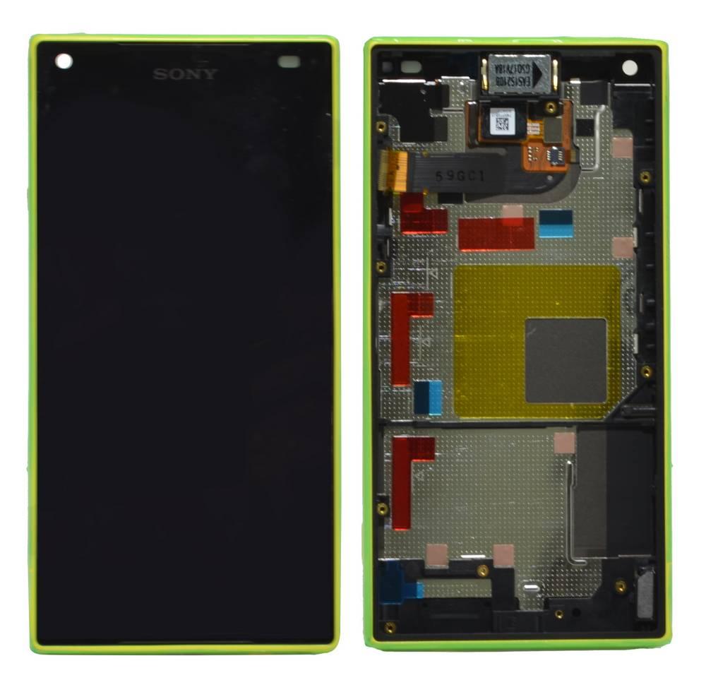 Γνήσια Οθόνη & Μηχανισμός Αφής Sony Xperia Z5 Compact E5803/ E5823 Κίτρινο 1297-3733