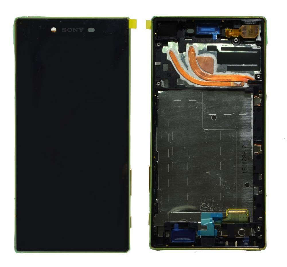 Γνήσια Οθόνη & Μηχανισμός Αφής Sony Xperia Z5 Premium E6853 Χρυσαφί 1299-0615