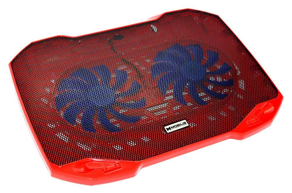 "Laptop Cooler Mobilis F2 Κόκκινο για Φορητούς Υπολογιστές έως 15.6"""