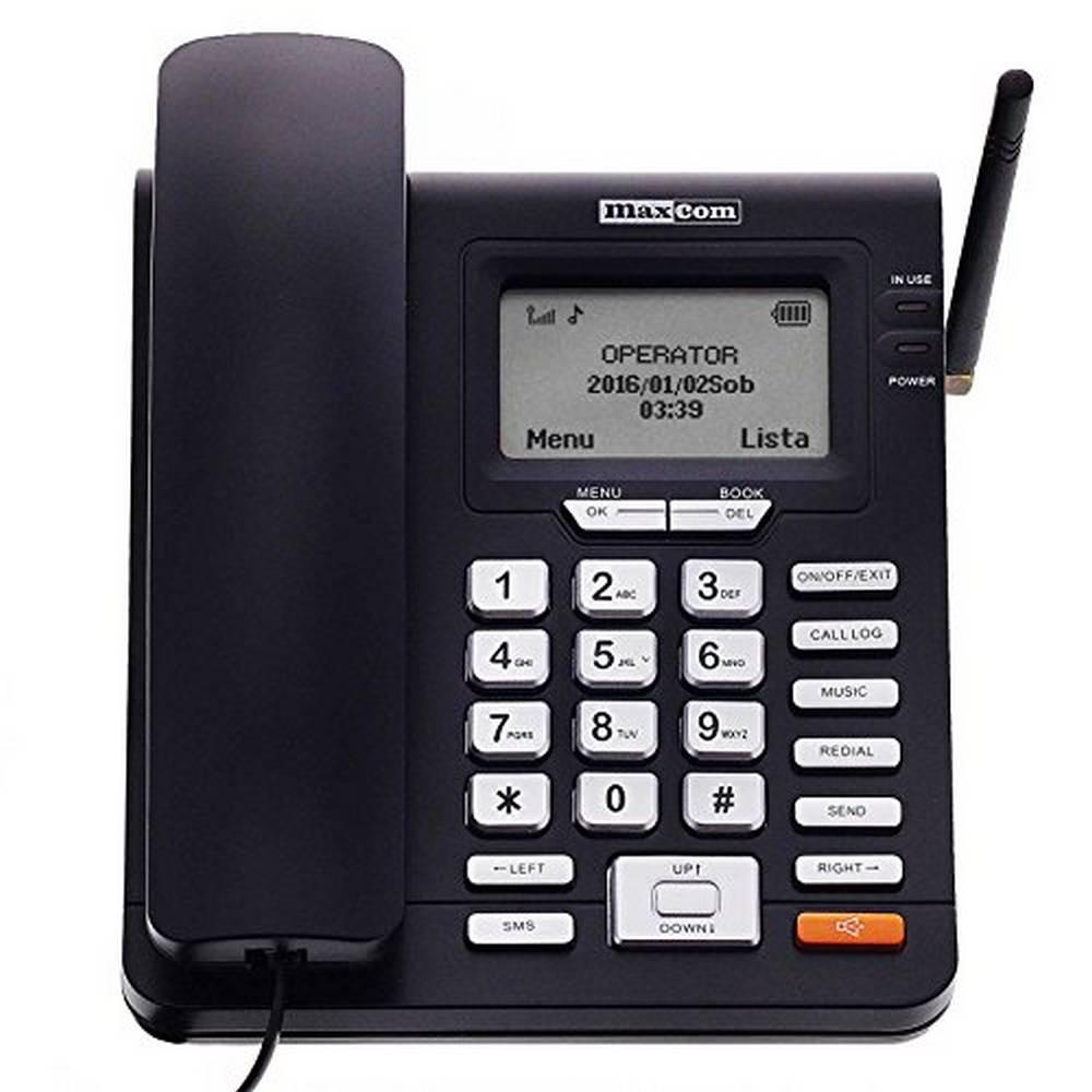Σταθερό GSM Τηλέφωνο Maxcom Comfort MM28D Μαύρο με Λειτουργία Κινητού Τηλεφώνου και Ραδιόφωνο