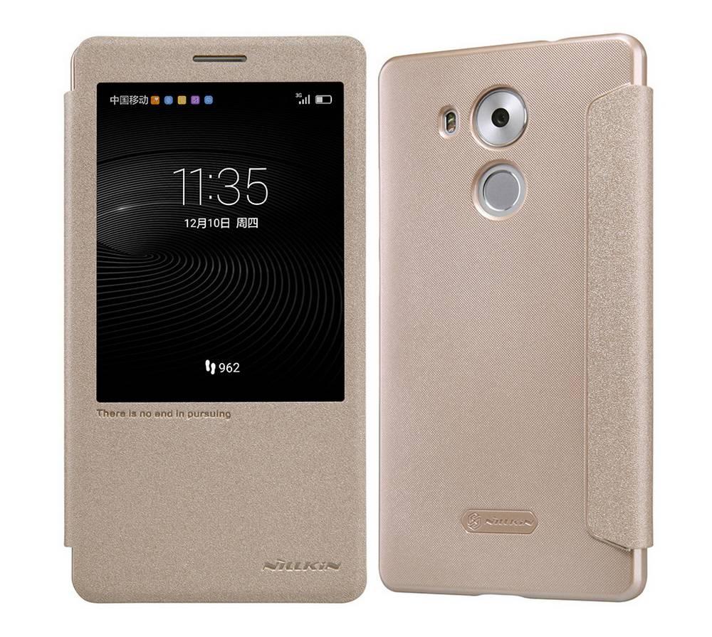 Θήκη Book S-View Nillkin Sparkle Leather για Huawei Ascend Mate 8 Χρυσαφί με ενεργό S-View