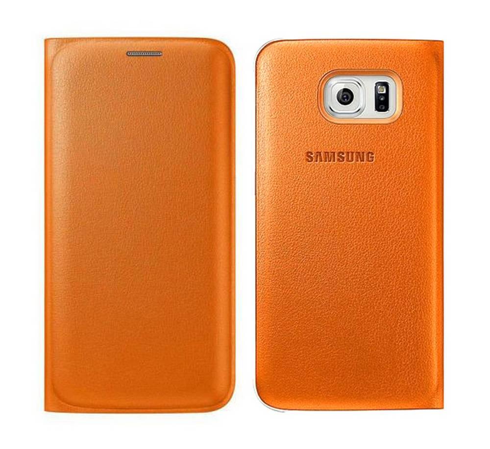 Θήκη Book Samsung Flip Wallet EF-WG925POEGWW για SM-G925F Galaxy S6 Edge Πορτοκαλί