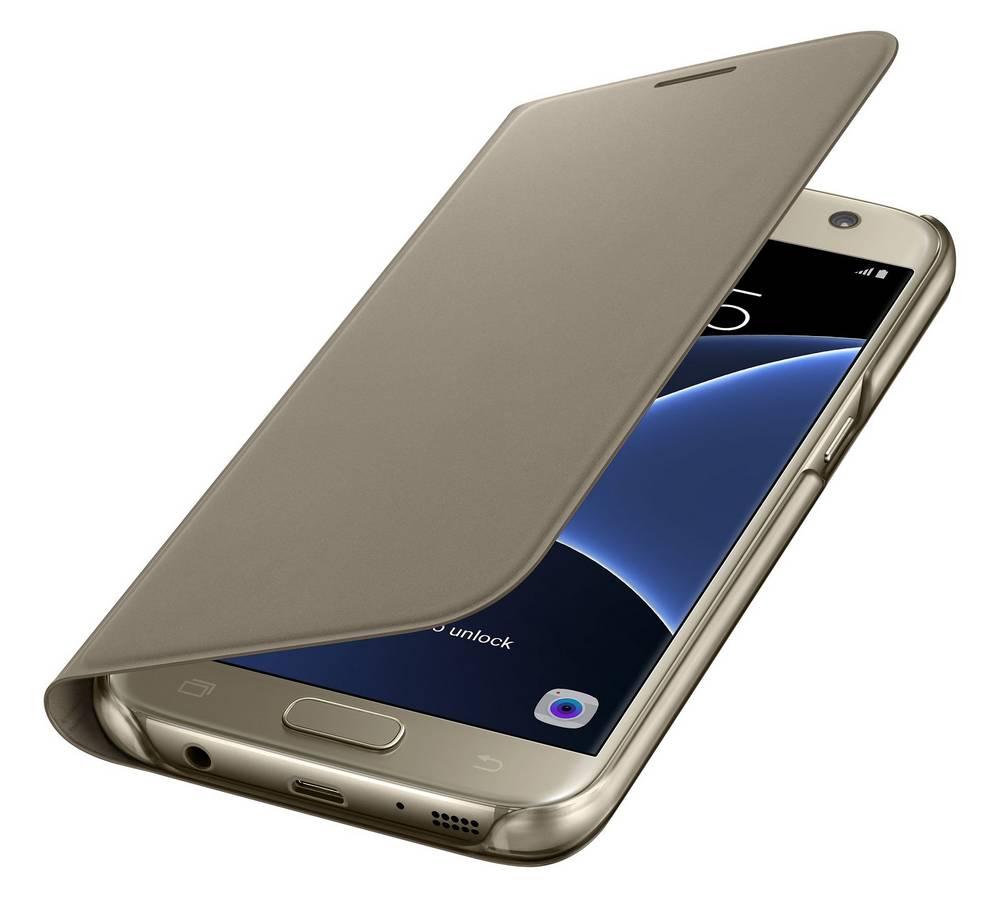 Θήκη Book Samsung Flip Wallet EF-WG930PFEGWW για SM-G930F Galaxy S7 Χρυσαφί
