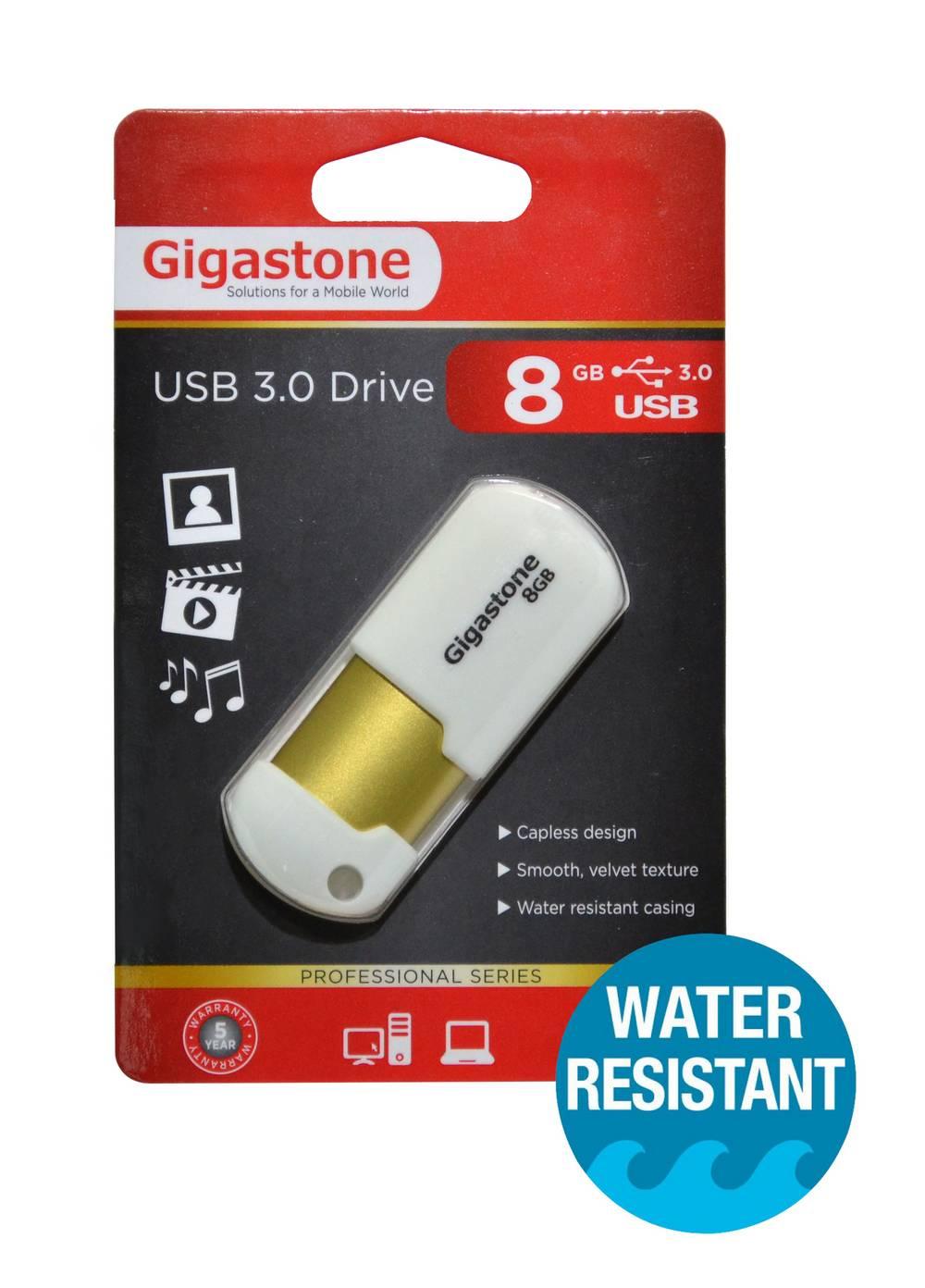 USB 3.0 Gigastone Flash Drive U307 8GB Λευκό Professional Series Velvet Frame