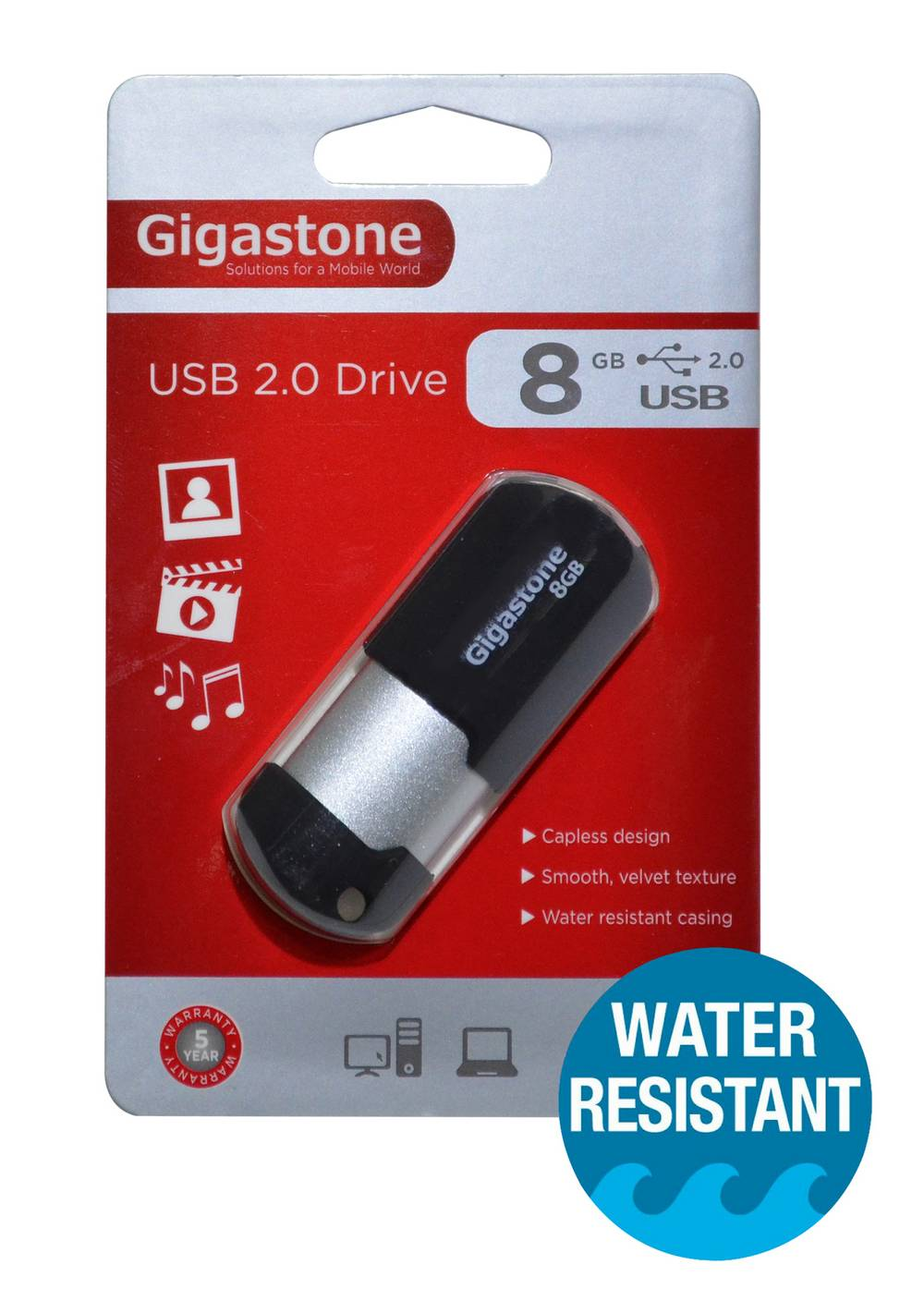 USB 2.0 Gigastone Flash Drive U207 8GB Μαύρο Professional Series Velvet Frame