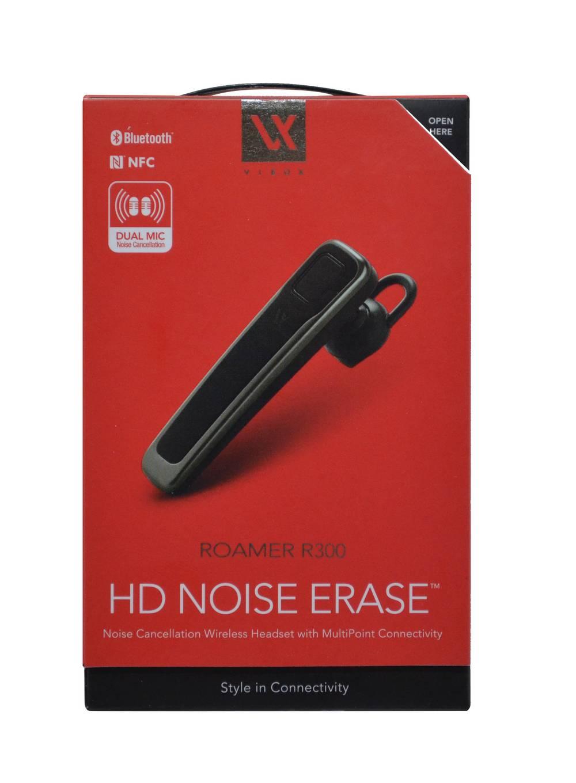 Bluetooth Hands Free Vieox Roamer R300 HD, Dual Mic, NFC Γκρί