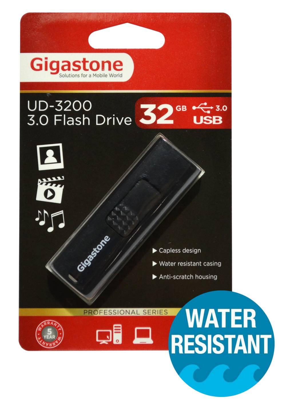 USB 3.0 Gigastone Flash Drive UD-3200 32GB Μαύρο Professional Series