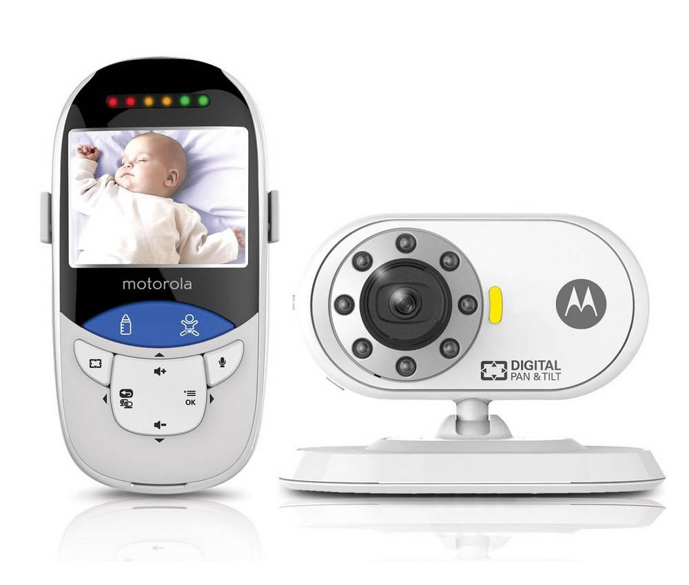 "Baby Monitor Motorola MBP27T με Έγχρωμη Οθόνη 2.4"",  Θερμόμετρο Touchless, Ψηφιακή Περιστροφή και Κλίση και Εμβέλεια 160m"