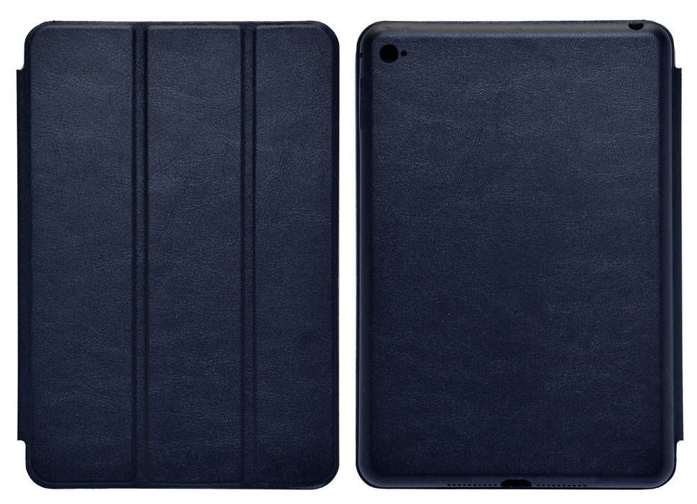 Θήκη Smart Ancus για Apple iPad Mini 4 με Πίσω Κάλυμμα Μπλέ Δερματίνη