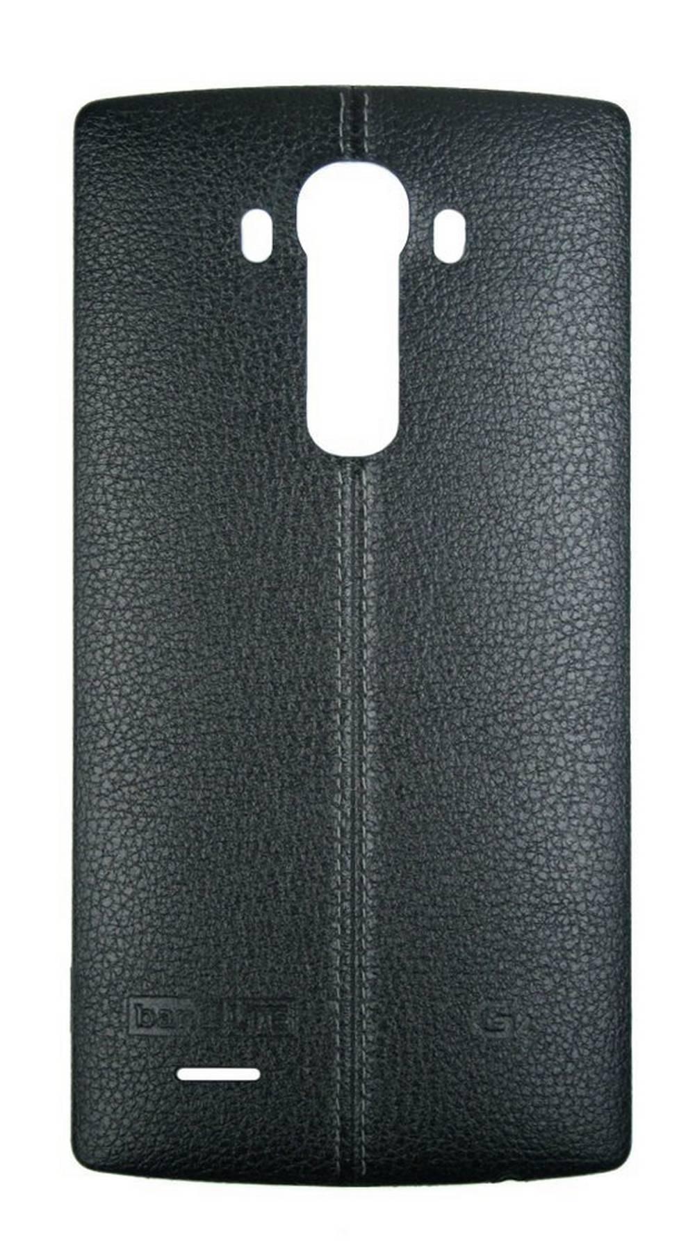Καπάκι Μπαταρίας Δερμάτινο LG CPR-110 για G4 H815 Μαύρο με Ενεργό NFC Original AAA76386601