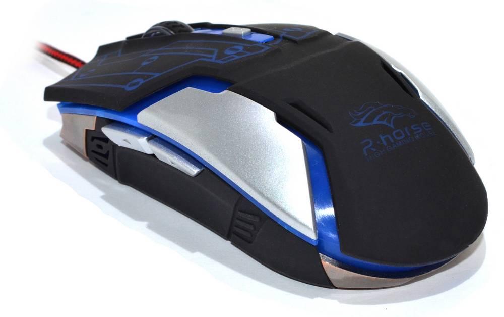 Ενσύρματο Ποντίκι R-horse RH-1990 Robocop Series 5 Πλήκτρων 3200 DPI Μαύρο - Μπλέ (120*70*35mm)