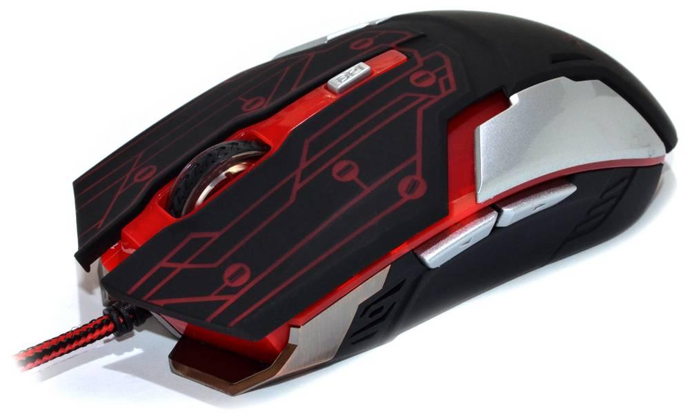 Ενσύρματο Ποντίκι R-horse RH-1990 Robocop Series 5 Πλήκτρων 3200 DPI Μαύρο - Κόκκινο (120*70*35mm)