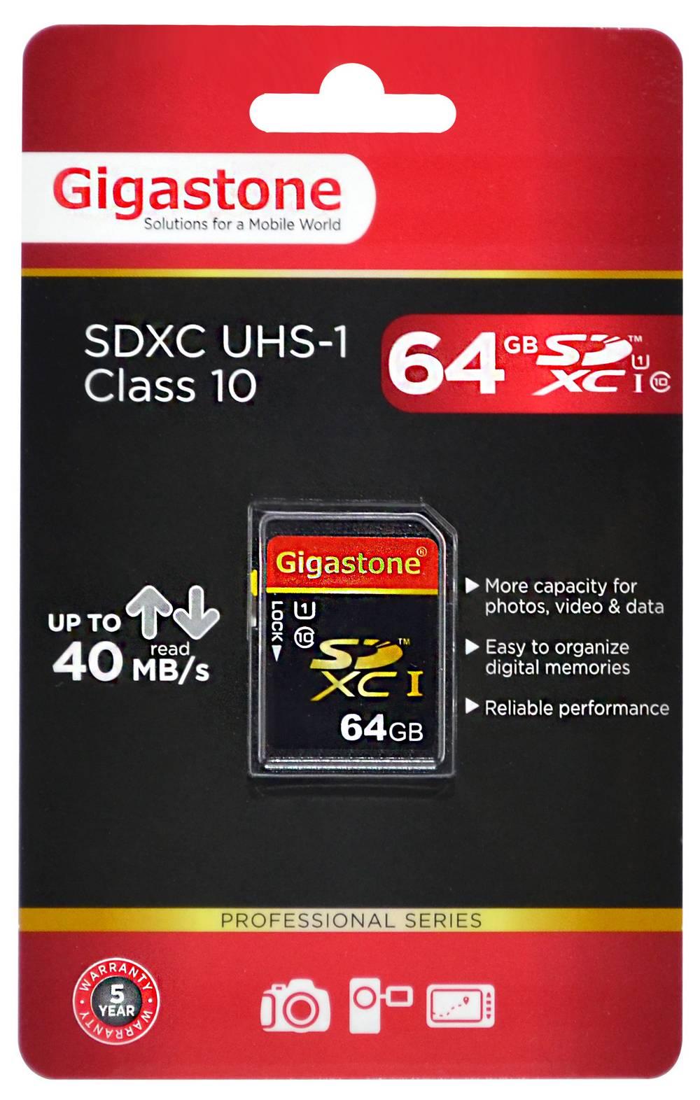 Κάρτα Μνήμης Gigastone SDXC 64GB UHS-1 Class 10