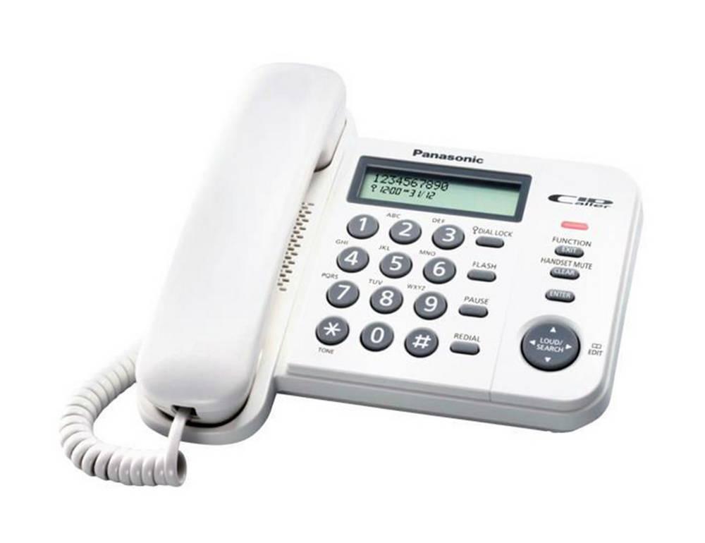 Σταθερό Ψηφιακό Τηλέφωνο Panasonic KX-TS580EX2W Λευκό με Ανοιχτή Συνομιλία