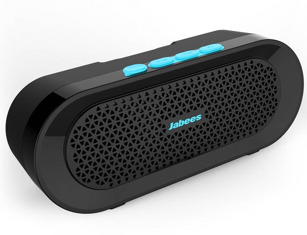 Φορητό Ηχείο Εξωτερικού Χώρου Bluetooth Jabees beatBOX BI 3W IPX4 Μαύρο - Μπλέ με Ανοιχτή Ακρόαση και Audio-in