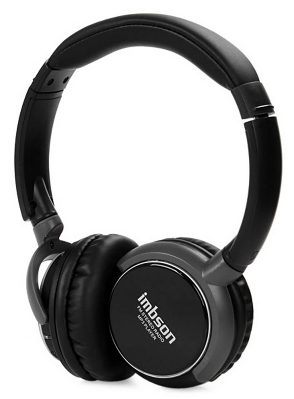 Ακουστικά Stereo Imbson Foldable iM-8001 3.5 mm Μαύρα με Ραδιόφωνο FM και MP3 Player με Κάρτα Μνήμης Micro SD