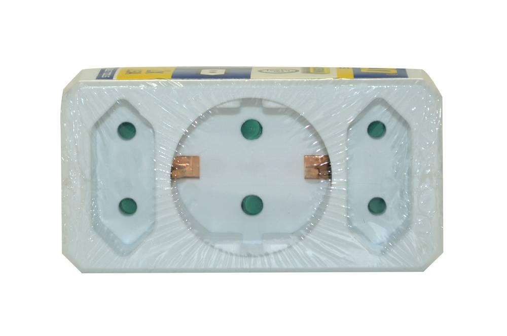 Πολύπριζο Kinzo με 1 Θύρα Εισαγωγής Σούκο 16A και 2 Διπολικά 2.5A (230V-16A 3500W) με Προαστασία για Παιδιά