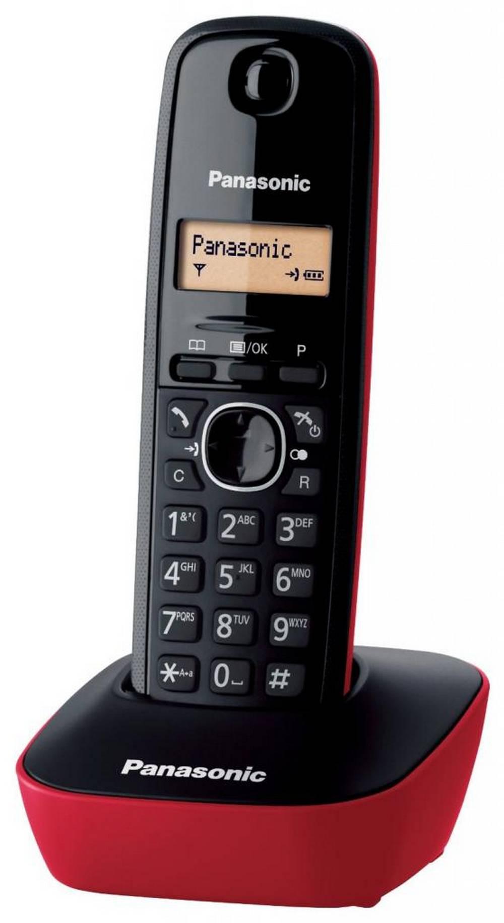 Ασύρματο Ψηφιακό Τηλέφωνο Panasonic KX-TG1611 (EU) Μαύρο-Κόκκινο