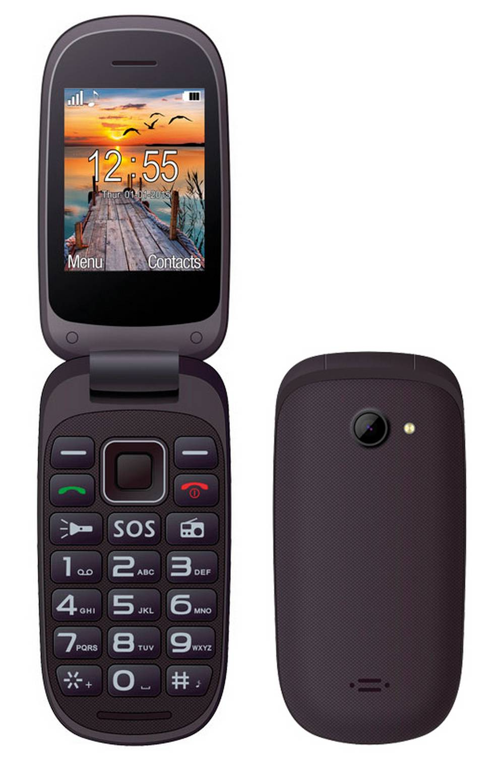Maxcom MM818 (Dual Sim) με Μεγάλα Πλήκτρα, Ραδιόφωνο (Λειτουργεί χωρίς Handsfree) και Πλήκτρο Έκτακτης Ανάγκης Μαύρο