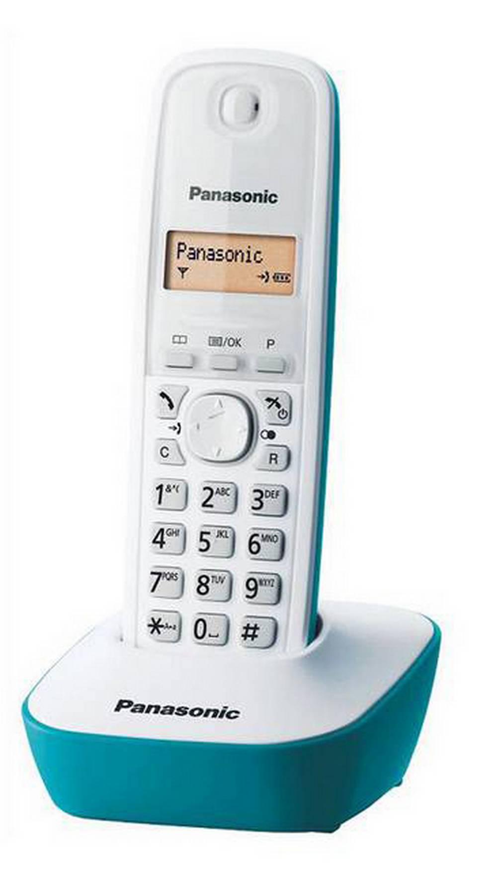 Ασύρματο Ψηφιακό Τηλέφωνο Panasonic KX-TG1611 (EU) Λευκό-Τυρκουάζ