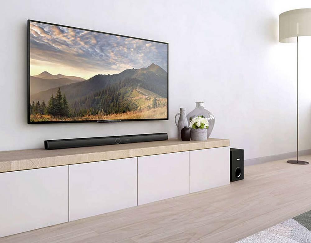 Soundbar Philips HTL3160B/12 200W 3.1 CH Wireless Subwoofer,Bluetooth, NFC, HDMI ARC, Dolby Digital, Dolby pro-logic 2