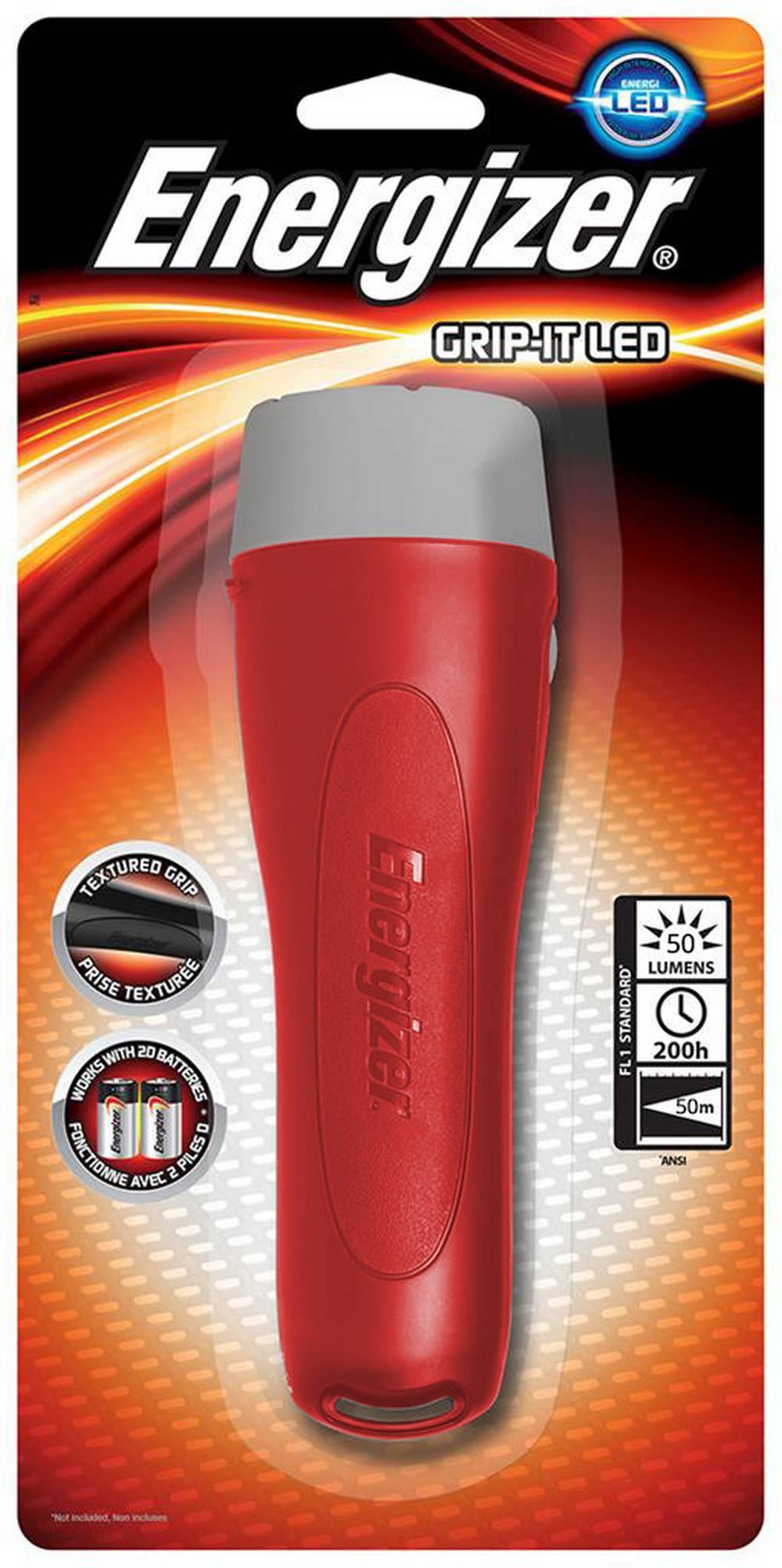 Φακός Energizer Grip-it Led 2D 1 Led 50 Lumens