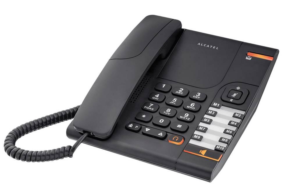 Σταθερό Ψηφιακό Τηλέφωνο Alcatel Temporis 380 Μαύρο, με Ανοιχτή Ακρόαση και Υποδοχή Σύνδεσης Ακουστικού Κεφαλής (RJ9)
